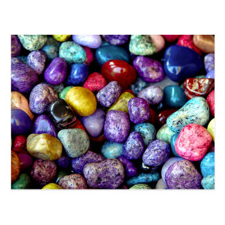 Chic Colorful Stones Postcard