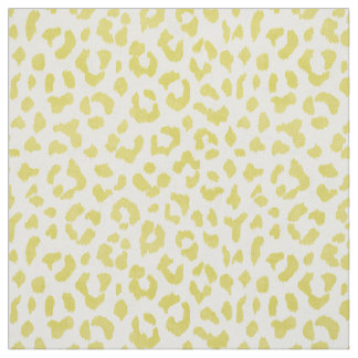 Chic colorful yellow cheetah print pattern fabric