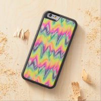 Chic Colourful Abstract Neon Chevron Pattern