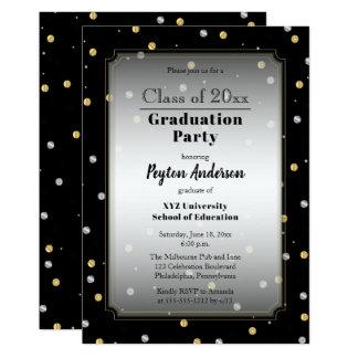 Chic Confetti Dots College Graduation Party Card