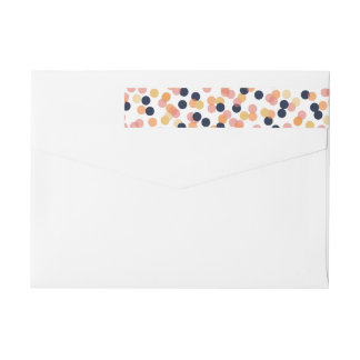 Chic Confetti Shower Wraparound Address Labels