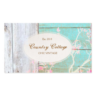 Chic Country Vintage Rustic Wood Boutique Pack Of Standard Business Cards