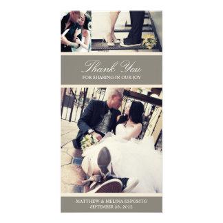 CHIC CREAM GRATITUDE   WEDDING THANK YOU CARD