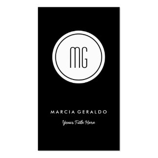Chic Custom Color Monogram Logo Business Card