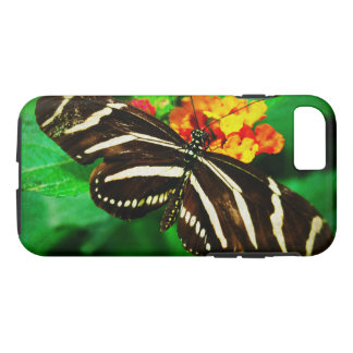 Chic, cute black and white striped butterfly photo iPhone 8/7 case