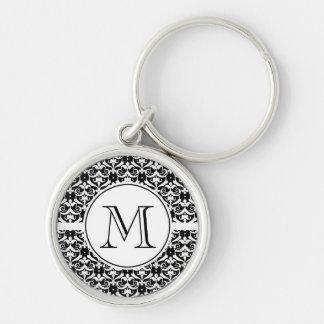 Chic Damask Key Ring