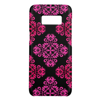 Chic damask pink tones Case-Mate samsung galaxy s8 case