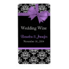 Chic Damask Wedding Mini Wine Labels