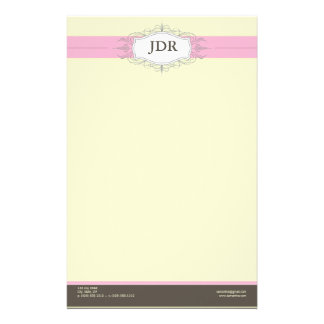 Chic Deco Baby Pink Customized Stationery