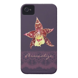 Chic deco black orchid Blackberry Bold 9700-9780 iPhone 4 Cases