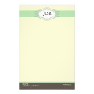 Chic Deco Mint Customized Stationery