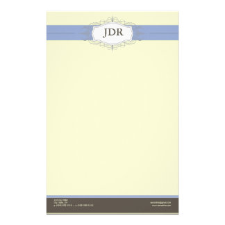 Chic Deco Periwinkle Customized Stationery