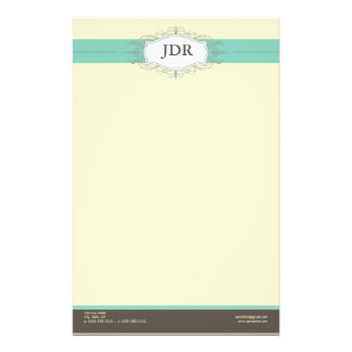 Chic Deco Teal Customized Stationery