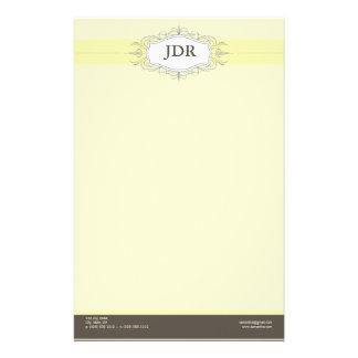 Chic Deco Yellow Customized Stationery
