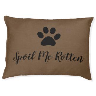 "CHIC DOG BED_""SPOIL ME ROTTEN""  BLACK STRIPES PET BED"