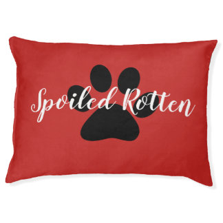 """CHIC DOG BED_""""SPOIL ME ROTTEN""""  RED/BLACK PET BED"""