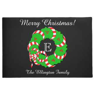 CHIC DOOR MAT_MERRY CHRISTMAS WREATH DOORMAT