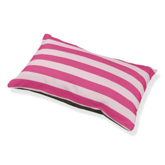 Chic Double Pink Stripes Pet Bed