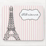 Chic Eiffel Tower Mouse Pad