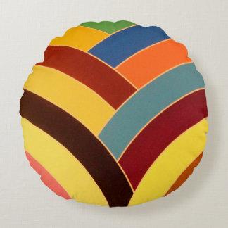 chic elegant contemporary chevron round cushion