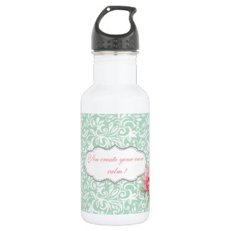 Chic Elegant  Damask, Roses,Motivational Message 532 Ml Water Bottle