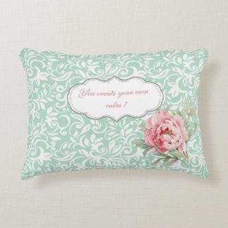Chic Elegant  Damask, Roses,Motivational Message Decorative Cushion