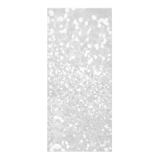 chic elegant glamour White Faux Glitter Rack Card Design