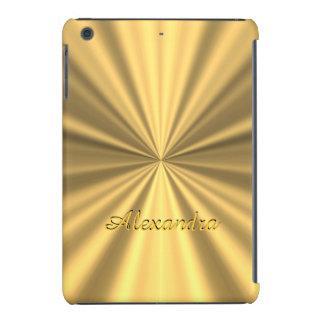 Chic elegant golden personalized faux metallic iPad mini retina cover