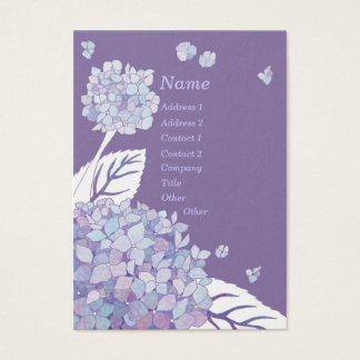 Chic Elegant Hydrangeas Therapist Business Cards