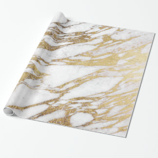 Chic Elegant White and Gold Marble Pattern