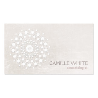 Chic Elegant White Circle Logo White Cosmetologist Pack Of Standard Business Cards