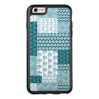 Chic Ethnic Faux Patchwork Pattern, Teal and White OtterBox iPhone 6/6s Plus Case