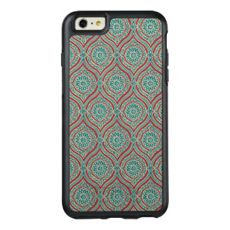 Chic Ethnic Ogee Pattern in Maroon, Teal and Beige OtterBox iPhone 6/6s Plus Case