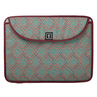 Chic Ethnic Ogee Pattern in Maroon, Teal and Beige Sleeves For MacBook Pro