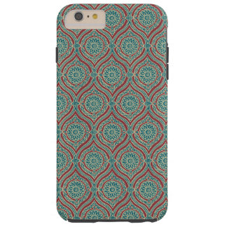 Chic Ethnic Ogee Pattern in Maroon, Teal and Beige Tough iPhone 6 Plus Case