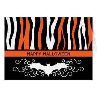 Chic fashionable Halloween Card