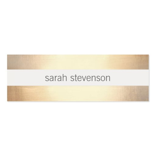 Chic Faux Gold Foil Striped Modern Business Card Templates