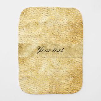Chic Faux Gold Glitter Chevrons Baby Burp Cloths