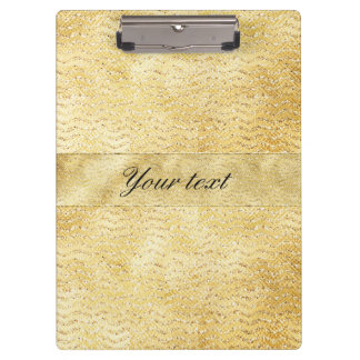 Chic Faux Gold Glitter Chevrons Clipboards