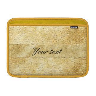 Chic Faux Gold Glitter Chevrons MacBook Air Sleeves