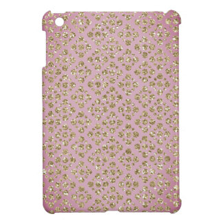 Chic Faux Gold Glitter Dots Mauve iPad Mini Case