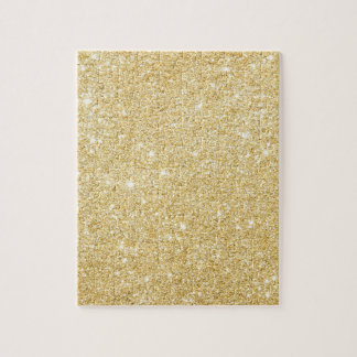 Chic Faux Gold Glitter Luxury Puzzle