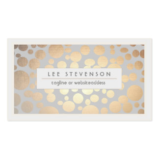 Chic Faux Gold Leaf Circle Pattern Business Card