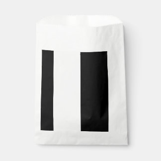 CHIC FAVOR BAG_MODERN BLACK &  WHITE STRIPES FAVOUR BAG