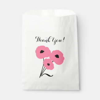 "CHIC FAVOR BAG_""Thank You!"" _PIN & /BLACK POPPIES Favour Bag"