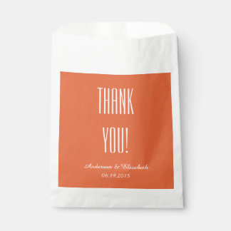 """CHIC FAVOR BAGS_""""Thank You"""" 16 TANGERINE Favour Bags"""