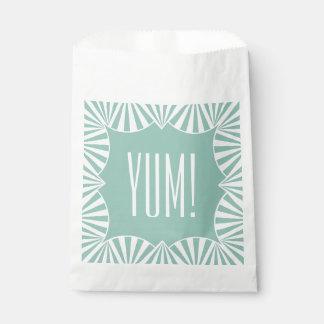 "CHIC FAVOR BAGS_""YUM!"" 415 SEAFOAM/WHITE FAVOUR BAGS"