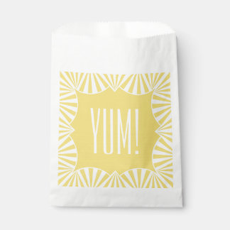 """CHIC FAVOR BAGS_""""YUM!"""" BUTTER YELLOW/WHITE FAVOUR BAGS"""
