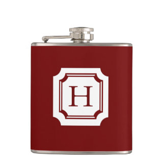 CHIC FLASK_18 RED WITH CLASSIC MONOGRAM HIP FLASK