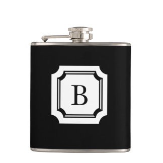 CHIC FLASK_BLACK WITH CLASSIC MONOGRAM HIP FLASK